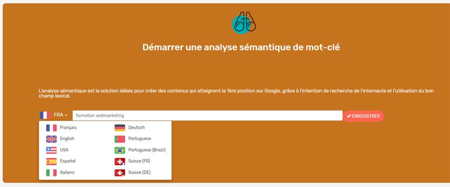 Semantic seo analysis tool
