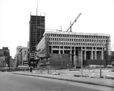 Boston City Hall when built in 1960