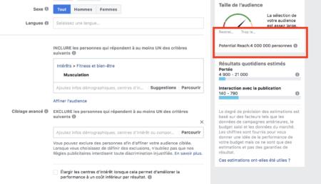 Facebook targeting bodybuilding
