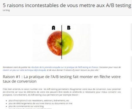 AB visual testing