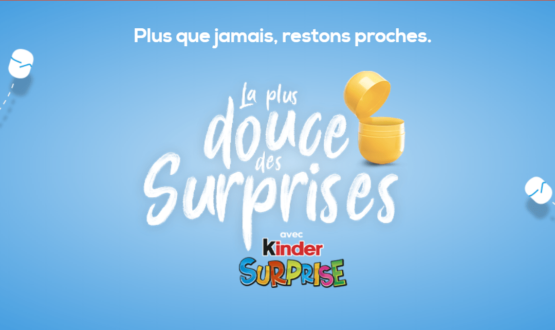 ▷ Kinder Surprise renews an unusual experience at a time of (un) containment 2020 Guide