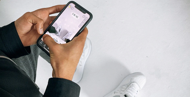 Dior partners with Snapchat to launch its new sneakers  2020