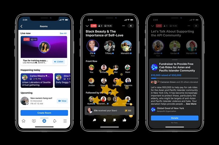 Facebook is launching live audio rooms in The United Kingdom and around the world!
