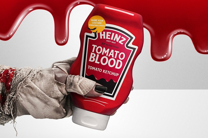 HEINZ launches bloody campaign to celebrate Halloween 2021